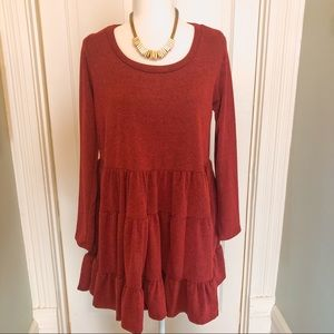 Maroon baby doll dress, medium